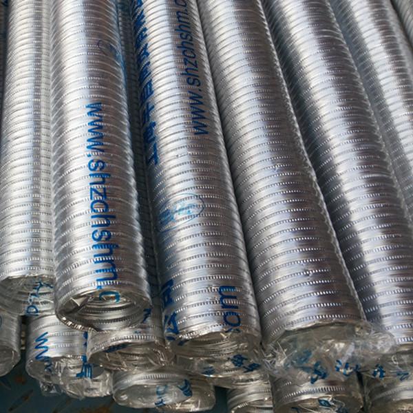 Tubo de metal Bellows hilo Bellows pueden doblar el tubo de ventilación de un calentador de agua de 6 cm de manguera flexible