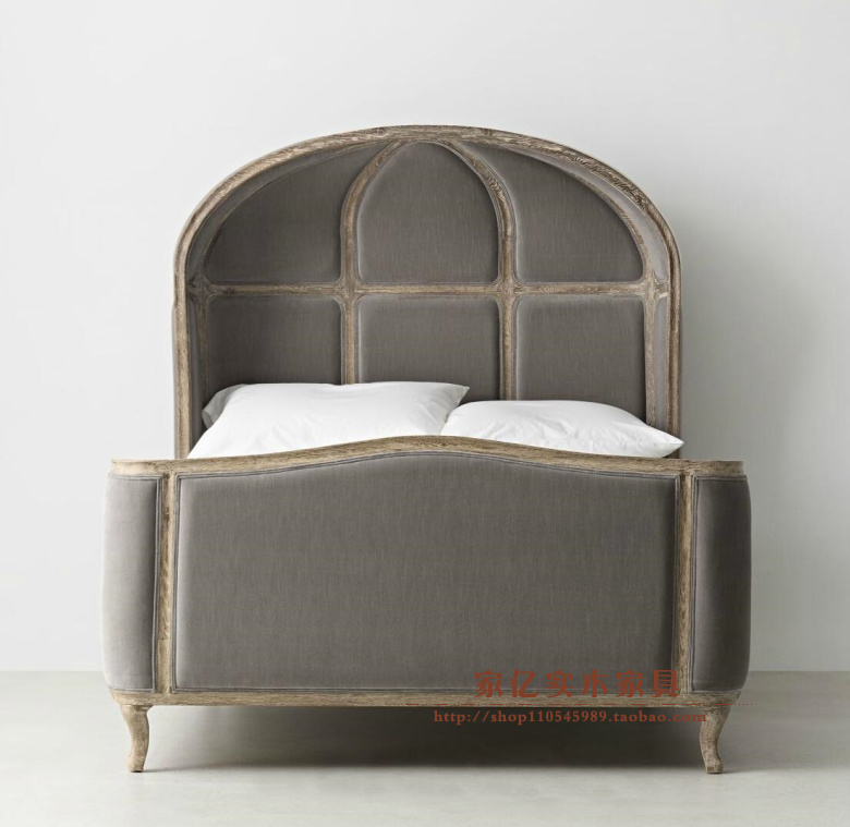 American solid wood single bed double bed bedroom soft oak shell shaped children bed boy girl princess bed