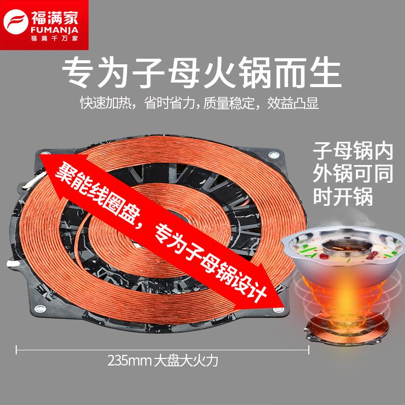 Marmite de grande puissance commerciale de four électromagnétique circulaire de fil 3000w intégré