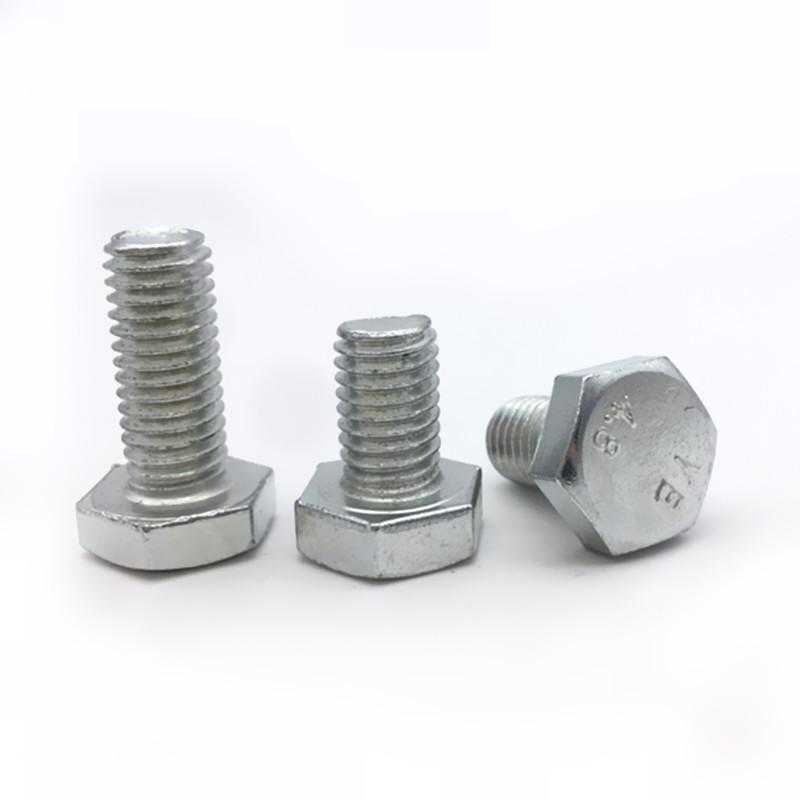 GB30 six hexagon bolt 4.8 galvanized galvanized six hexagon head bolts M12*20-300mm screw out
