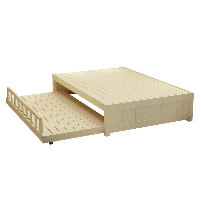 Tuochuang pine wood single bed double bed frame of modern minimalist 1.2 tatami bed 1.8 meters of logs without bed