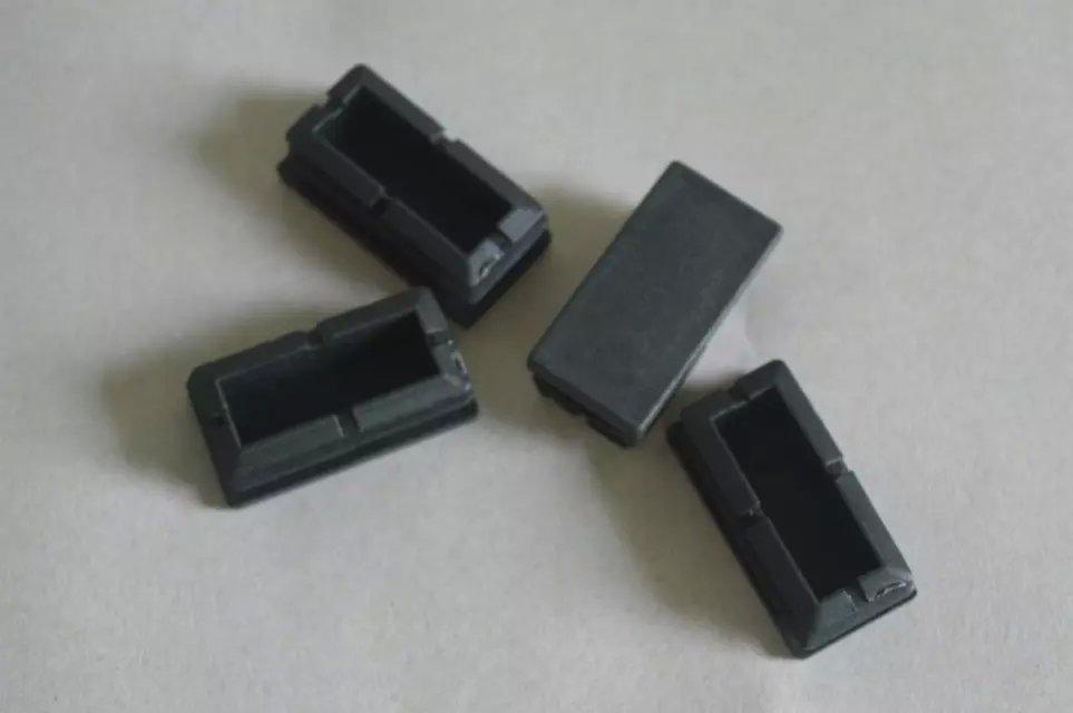 Tubos de tapón de Goma en el tubo de tapón de plástico rectangular pie tapar el tubo de Goma cubierta almohadillas de Goma de accesorios de escritorio