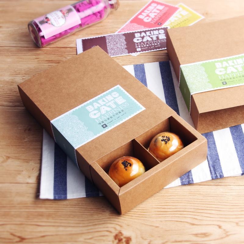 Eigelb... VERPACKUNG Kuchen geschenk - box 6 kapseln vier 50 - Gramm 80g EIS Haut große art mondfest zeremonie box - Su -