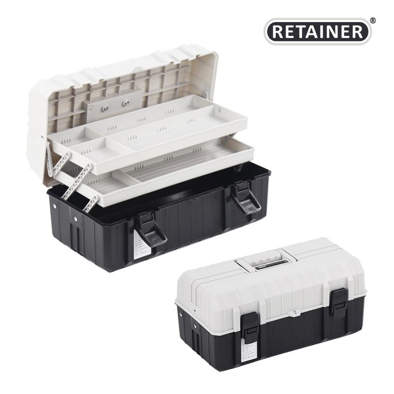 La scatola degli attrezzi Grande domestico di tre STRATI di Auto di Medie dimensioni portatili Multi - funzione di piegare la cassetta degli attrezzi di Plastica