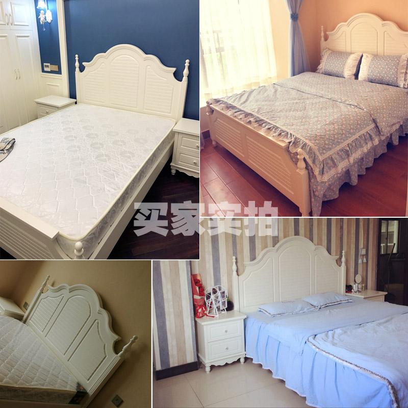 ヨーロッパの木造ダブル韓式田園プリンセスベッドアメリカン1 . 8米皮ベッド収納法式の1 . 5高箱婚ベッド