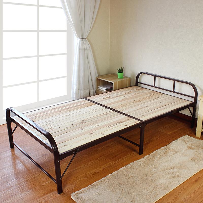 1. m - składane łóżko łóżko łóżko, łóżko proste drewniane łóżko z litego drewna. drewniane łóżko stali na lunch