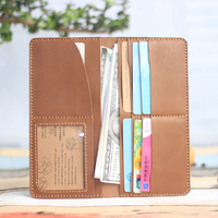 Handmade wallet material package DIY Leather Handmade Leather, leather men long, layer of leather, ultra-thin Long Wallet