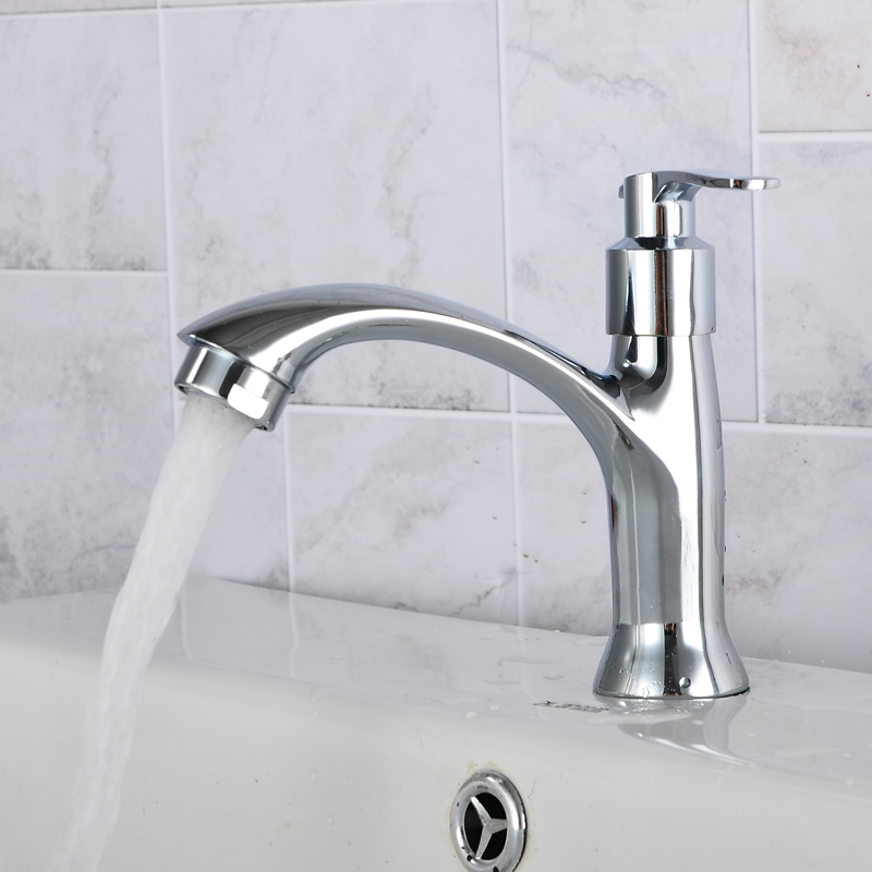 Copper ceramic valve core faucet ceramic wash basin basin basin washing pool full of single hole faucet