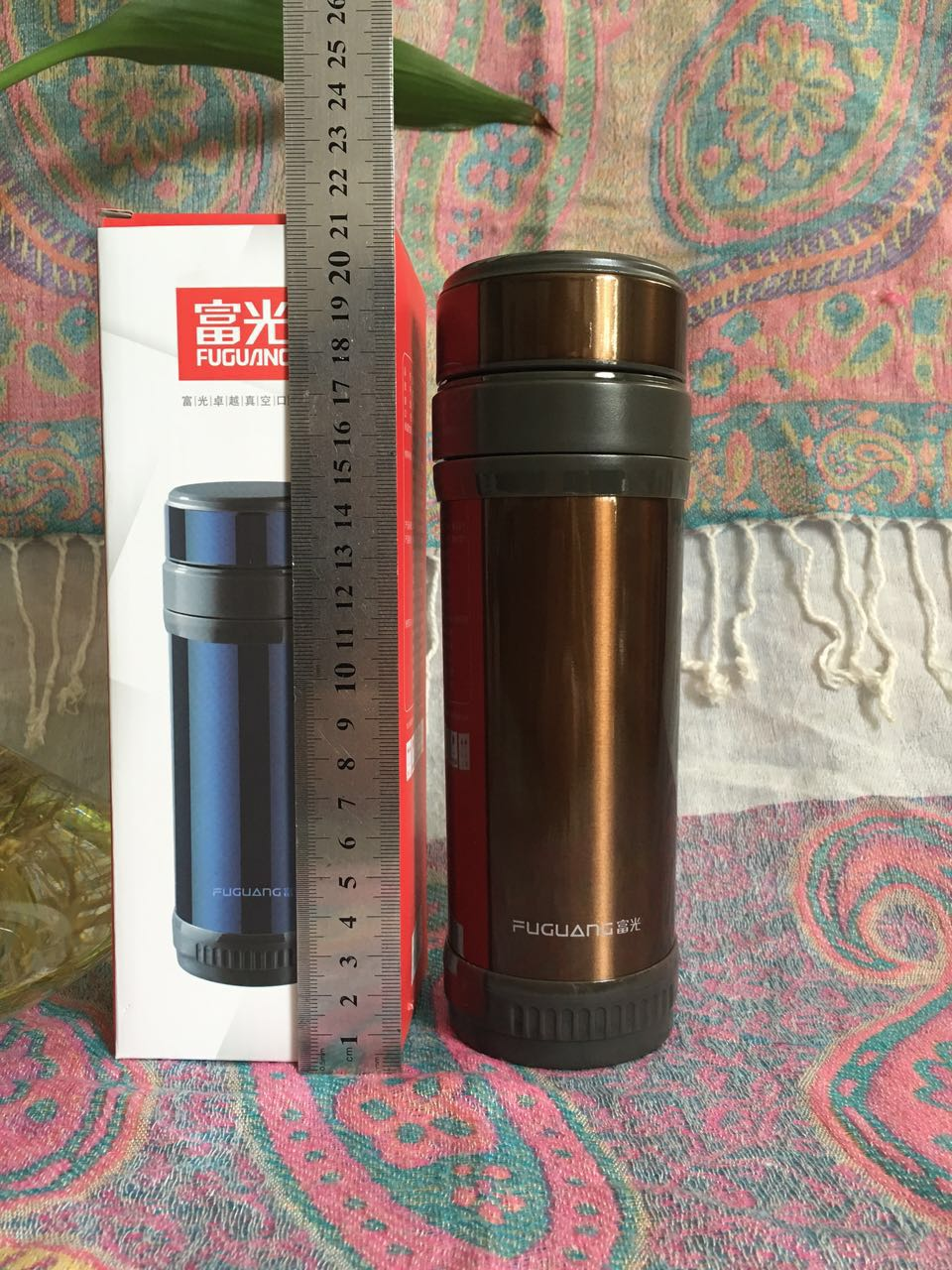 Fulkwong high-grade business men straight vacuum cup 350ml cup 304 stainless steel thermos cup gift