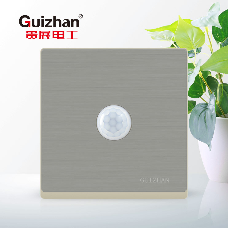 86 type wall switch socket panel, human body induction switch, corridor delay infrared support white energy saving lamp