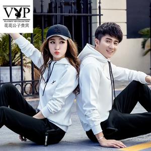 花花公子贵宾男女情侣装卫衣长袖套装两件套韩版潮流学生班服定制