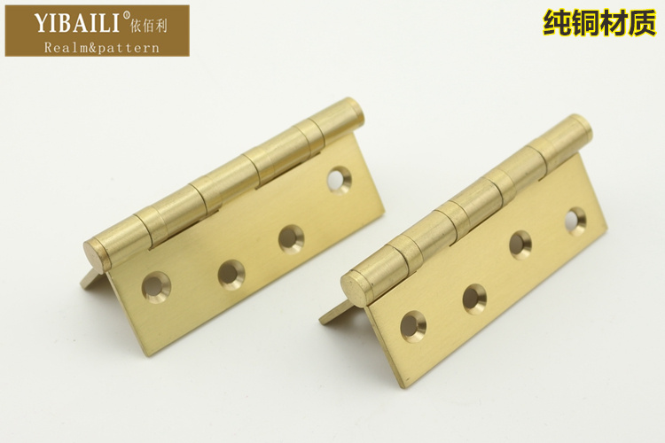 According to the copper bearing hinge Kimberly mute brushed gold copper hinge hinge 4 inch 2 common groove