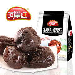 河岸红黑糖阿胶蜜枣500g去核大枣煲汤大红枣独立包休闲蜜饯零食