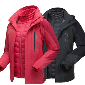 超保暖羽绒棉可拆卸两件套冲锋衣男秋冬季户外三合一西藏女外套潮