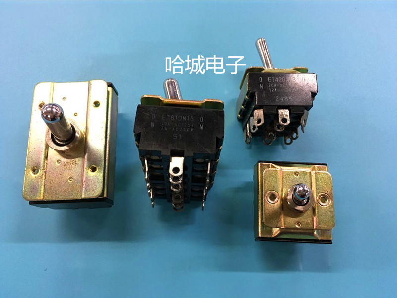 囗 használt a japán fuji billenőkapcsolók ET160N13 二档 18 láb - kapcsoló vizsgálata