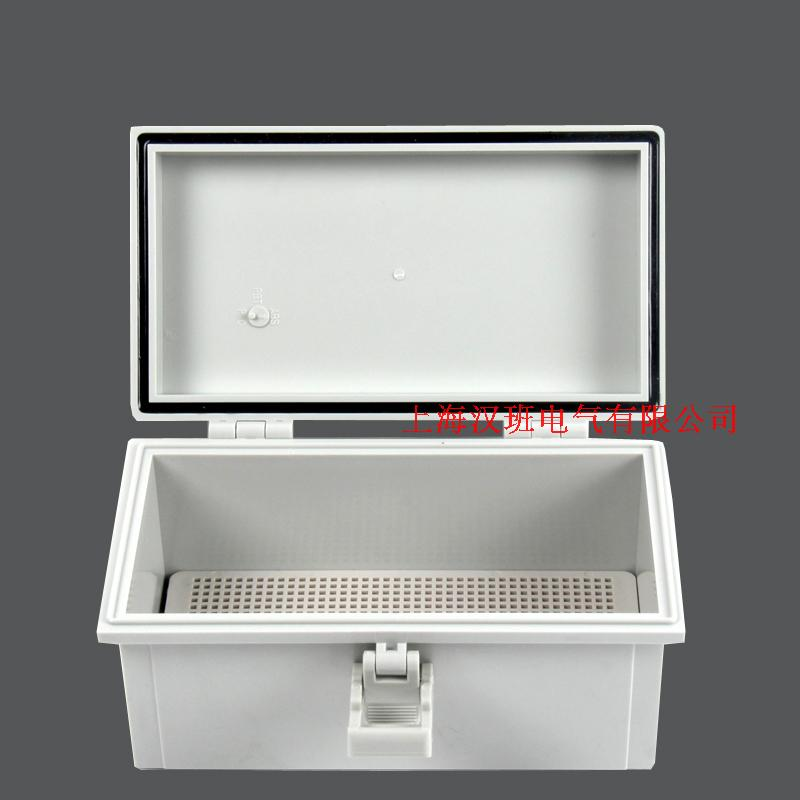 Buckle type 110*200*90mm water proof tank, ABS plastic water proof tank, plastic hasp and hinge waterproof box