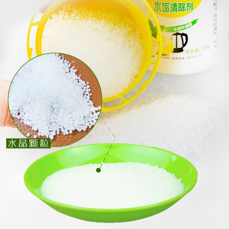 Scale scavenger citric acid cleaning agent to clean electric kettle scale tea drinking detergents