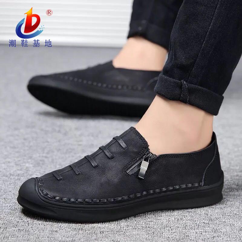 男鞋秋季时尚鞋子豆豆鞋韩版板鞋百搭休闲一脚蹬懒人潮鞋乐福鞋男