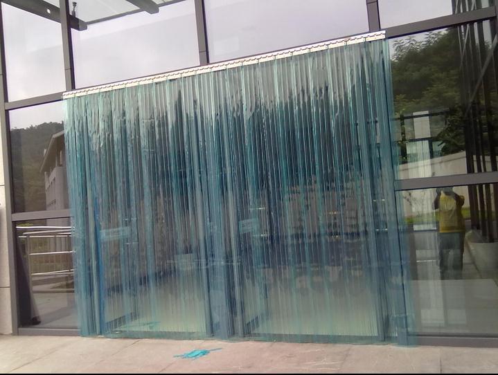 ulei de 2,7 metri de izolare de aer condiţionat din pvc transparent moale. vântul rece de izolare anti - îngheţ