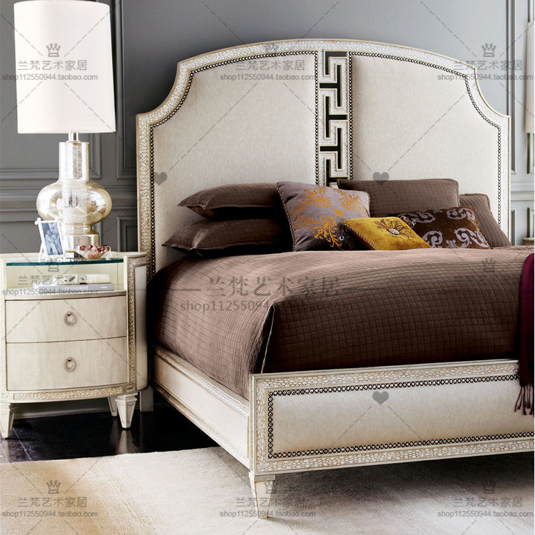 The European 1.8 meters double bed Jane wood bed wedding bed new classical princess bed American country retro carved bed