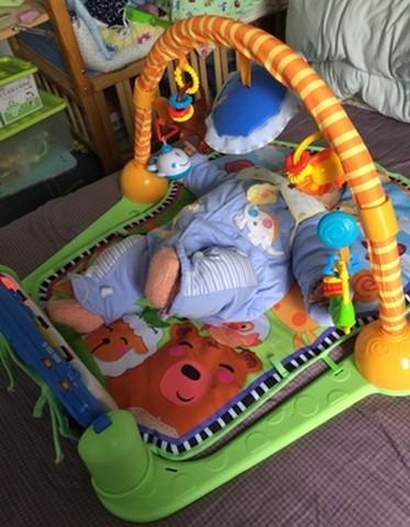 Pedaali Piano Fitness runko vauva varhaiskasvatus musiikki pelit matto vastasyntynyt vauva indeksointi matto 0-1 vuotias lelu