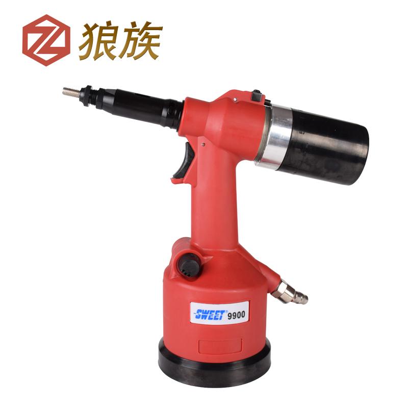 Taiwan Langzu pneumatic cap pullnig gun automatic rivet nut riveter gun M6M8 gun pull mother Industrial Shipping