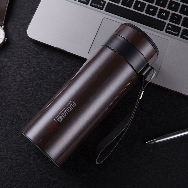 Fulkwong large capacity stainless steel vacuum insulation Cup ms.man cup vehicle portable 700ml custom filter