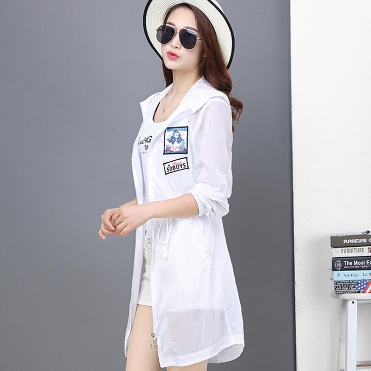 防晒衣女夏季新款韩版显瘦中长款风衣防紫外线开衫外套学生防晒服
