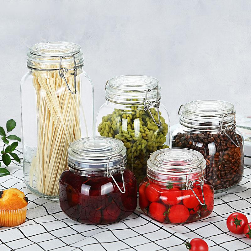 密封罐玻璃瓶带盖家用食品储物罐图片_5