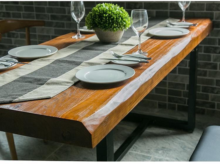 Rétro - la table table de bureau informatique américain de table rectangulaire en bois massif table table de bureau moderne et simple