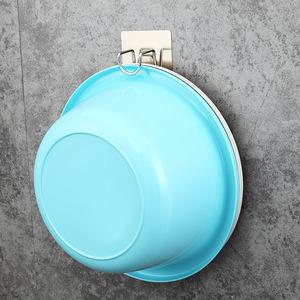 包邮不锈钢脸盆挂钩多功能免打孔壁挂卫生间厨房浴室家用收纳架子