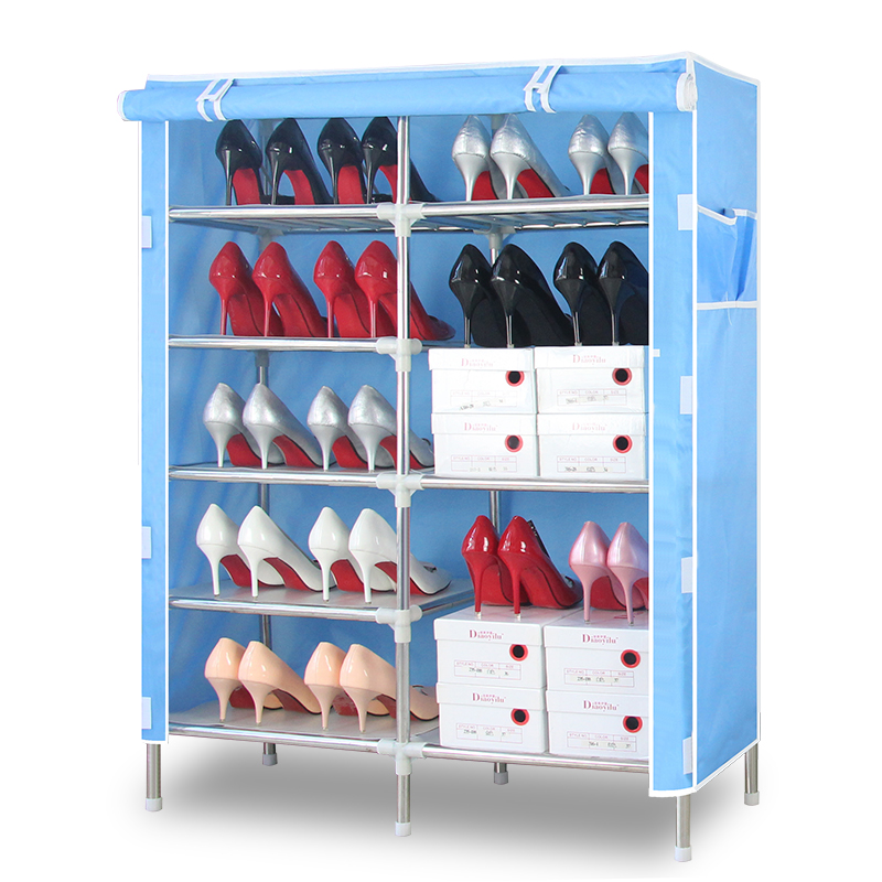 Stainless steel rack Oxford cloth shoe special offer simple dustproof multilayer thick reinforced assembly steel economy