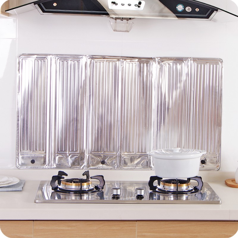 Kitchen foil oil baffle plate heat insulation plate for oil gas and oil baffle cooking oil splash baffle