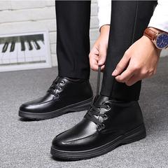 新款棉鞋男冬季保暖男士棉皮鞋加绒休闲鞋男棉鞋防滑毛皮鞋男鞋子