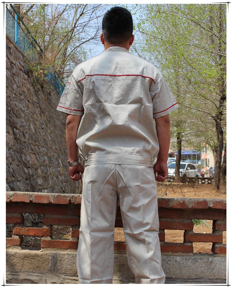Summer short sleeved overalls, men's workers, overalls, half sleeves, engineering clothes, auto repair factory, overalls suit