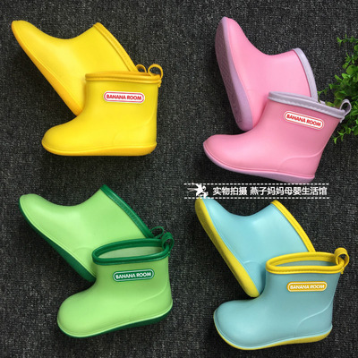 Children's Rain Boots Japanese baby boys and girls rubber shoes children's light boots spring and summer