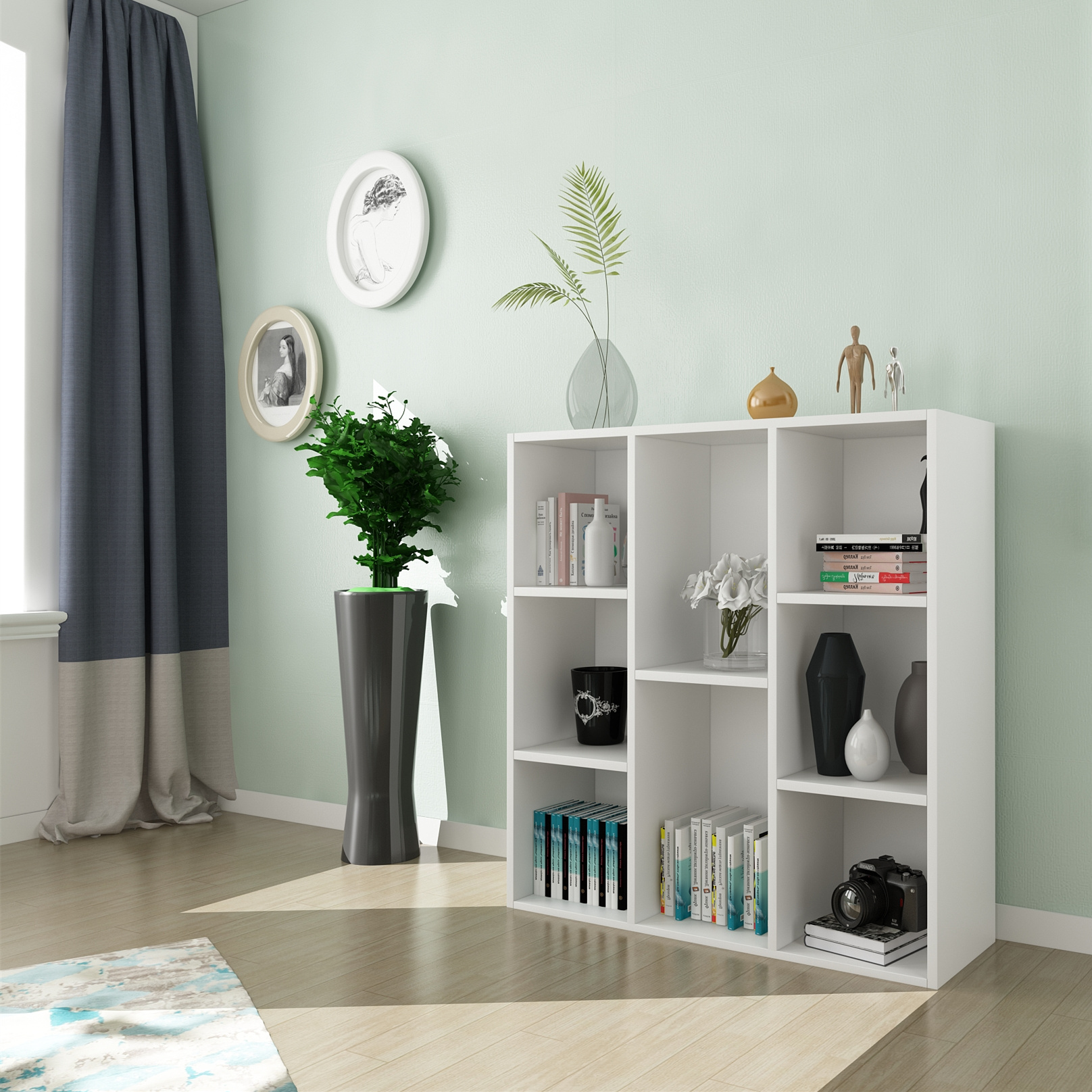 Five simple locker room Shelf Bookcase simple shelf storage cabinet cabinet cabinet lattice free combination