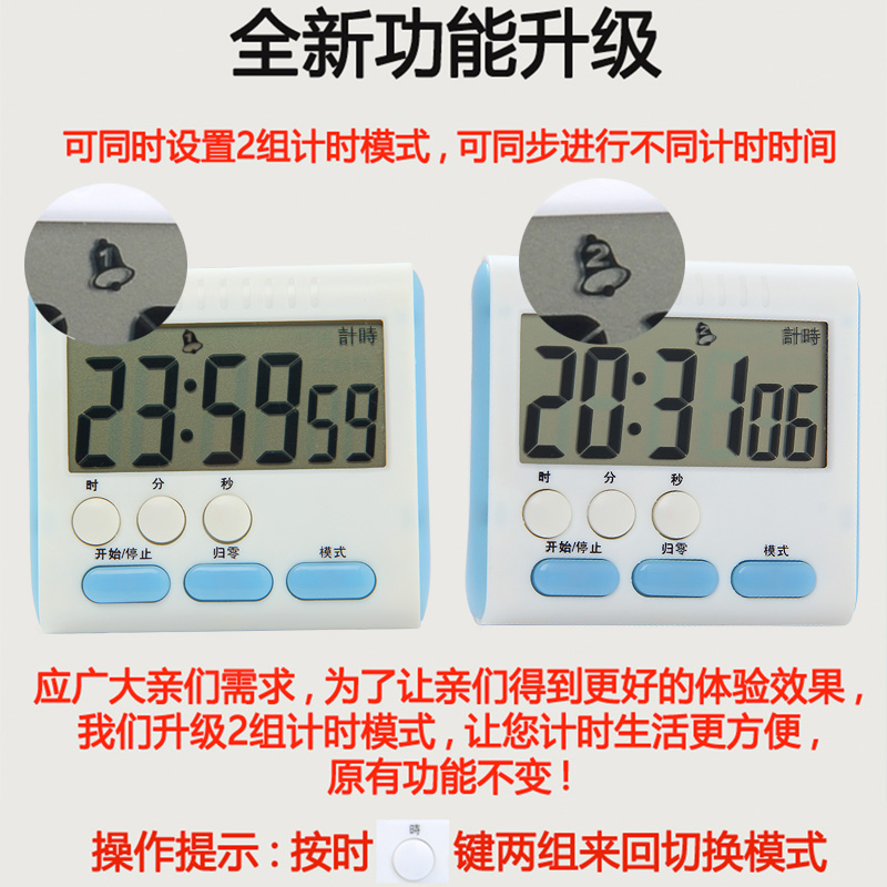 Waterproof switch electronic countdown timer, kitchen timer delay reminder, control cute alarm clock