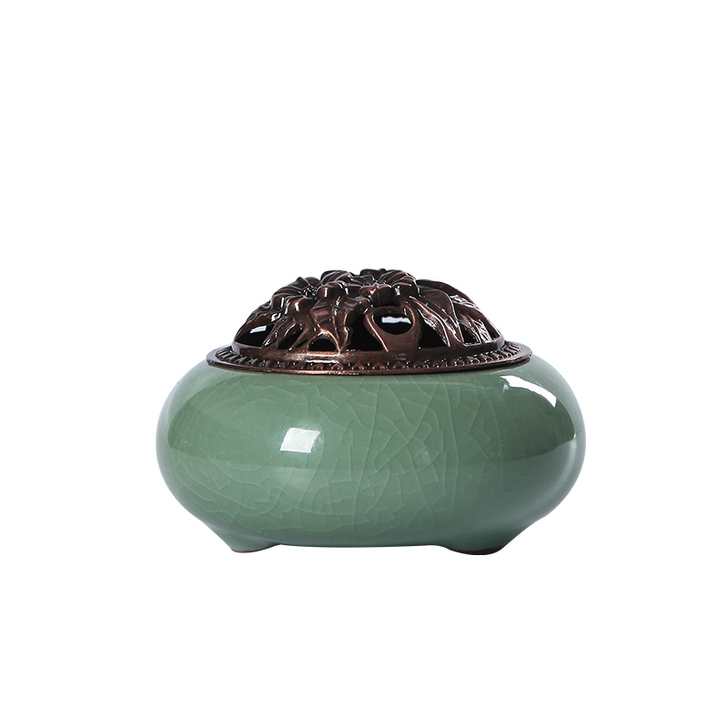 den keramiske antikke trompet sandeltræ censer indenlandske te røgelse ovn disk rum, som brænder