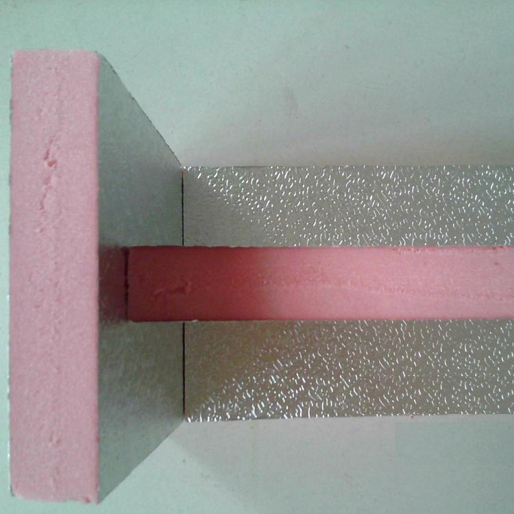 Doble papel de aluminio de extrusión de lámina de aluminio en el tubo de ventilación de Hubei placas de aislamiento en placa de viento de conductos de aire acondicionado.
