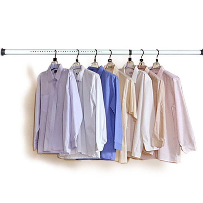 Clothes bar, single pole type balcony, fixed clothes drying pole, cool clothes hanging rod, retractable dormitory, free punching
