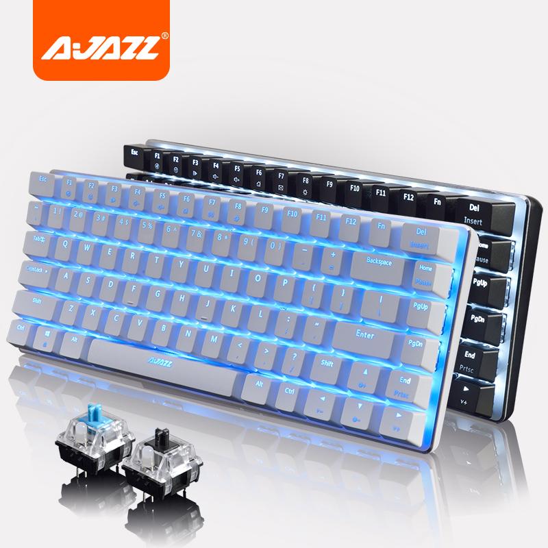 Loja de periféricos. 小苍 Preto AK33 CF 82 teclas retro Jogo de suspensão de eixo e eixo de metal Preto lol teclado mecânico