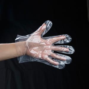 一次性手套食品餐饮美容家务手膜手套加厚PE透明塑料薄膜龙虾手套