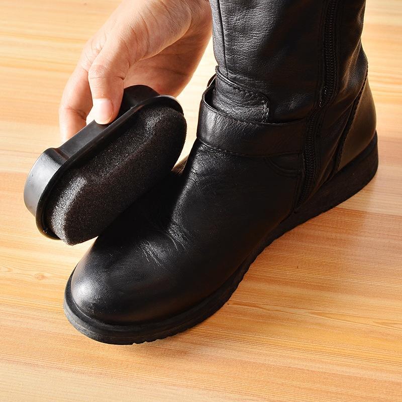无色鞋擦海绵擦双面皮革皮鞋保养鞋蜡 擦鞋神器