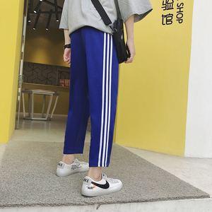 港风爆款经典阔腿裤子休闲裤男运动裤九分裤卫裤潮607-2