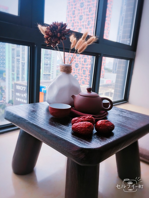 Teriyaki paulownia wood table table table window sill tatami bed Kang several small square table special offer