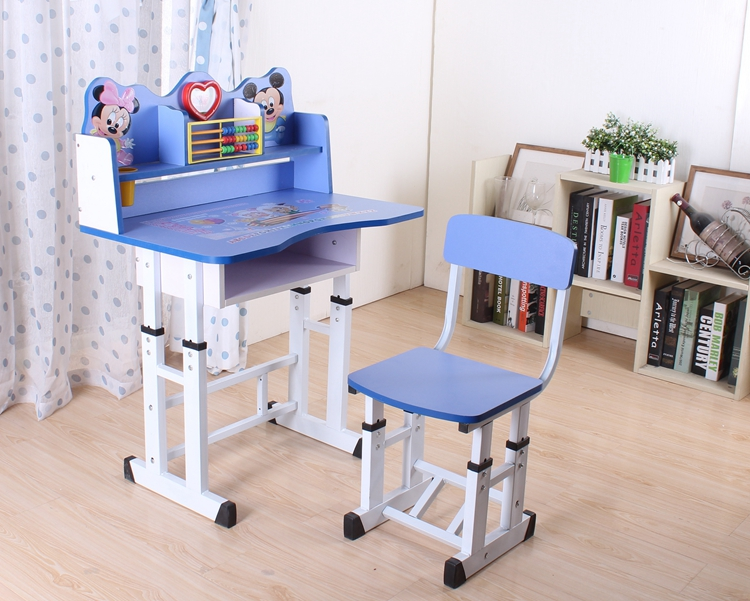 Modern Baby Furniture Set Mickey Studying Table And Chair