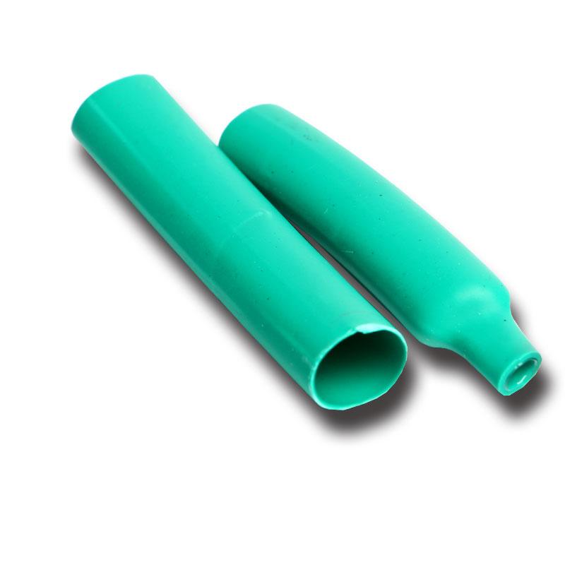 El paquete postal verde de doble pared con pegamento el tubo 3 veces con pegamento de la contracción 1.6-39 denso fuego verde