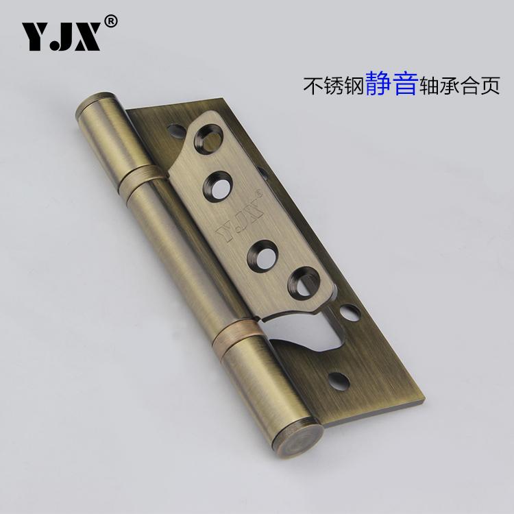YJX bisagras de acero inoxidable y engrosamiento de la exención de la puerta de bisagra de 5 pulgadas con bronce rojo de cobre negro.