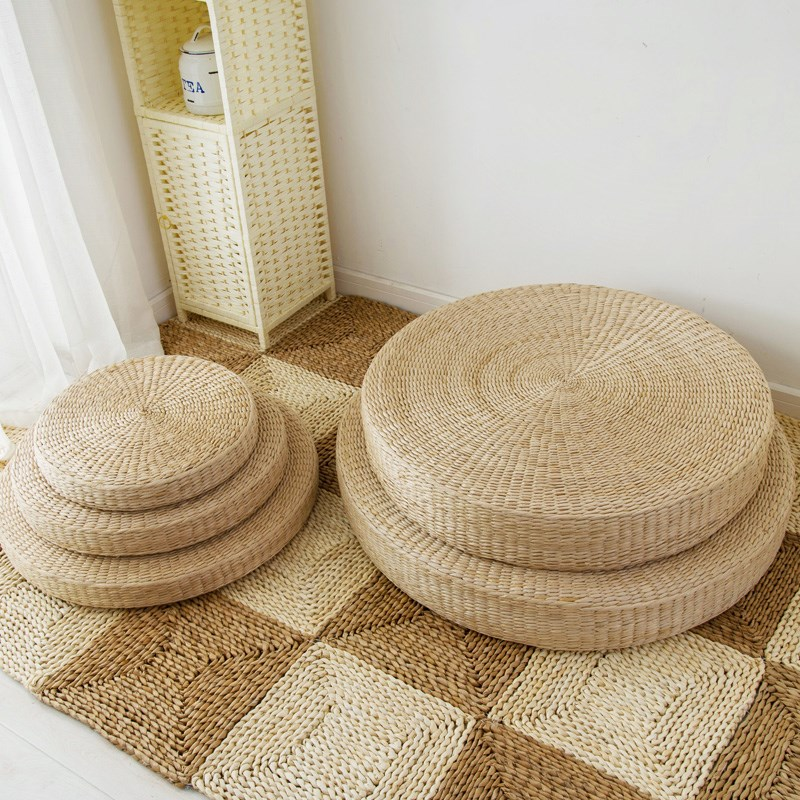 Japanese tea futon mattress cushion floor mat tatami straw straw mattress cushion thick rattan mat
